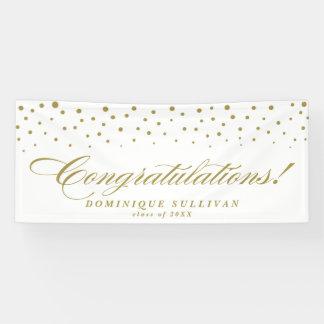 Golf Elegant Script Congratulations Confetti Dots Banner
