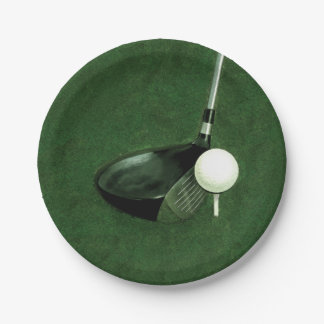 golf event paper plate