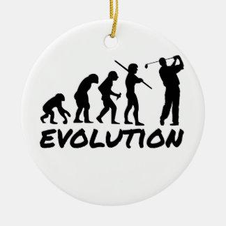 Golf Evolution Ceramic Ornament