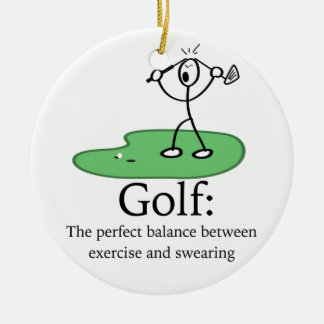 Golf: exercise and swearing Christmas Ornament