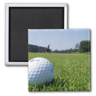 Golf Fairway Square Magnet