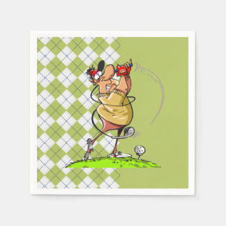 Golf Father's Day Party Paper Napkins Disposable Napkin