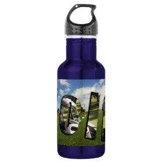 Golf, Game Logo, Blue Aluminum Water Bottle. 532 Ml Water Bottle
