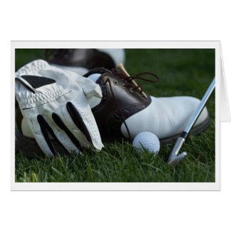 golf gear greeting cards