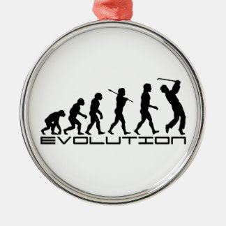 Golf Golfer Golfing Sport Evolution Art Metal Ornament