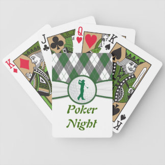 Golf Golfing poker night Red Black Bicycle Playing Cards