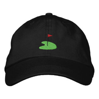 Golf Green with flag Embroidered Hats
