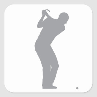 GOLF (grey) Square Sticker