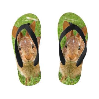 Golf Groundskeeper Bunny Kid's Thongs