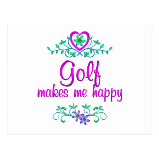 Golf Happy Post Card