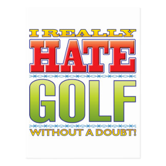 Golf Hate Post Card