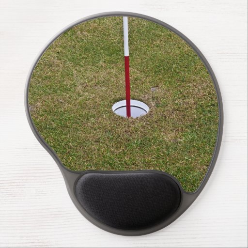 Golf hole gel mouse pads