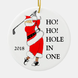 golf hole-in-one collectible ceramic ornament