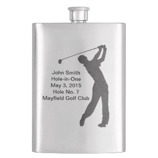 Golf Hole-in-one Commemoration Customizable Hip Flask