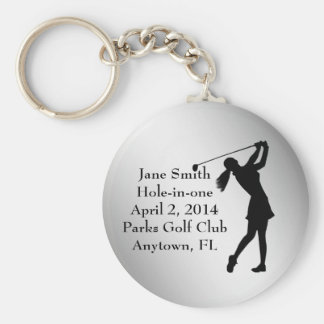 Golf Hole-in-one Commemoration, Customizable Key Ring