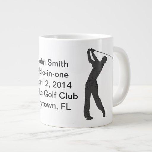 Golf Hole-in-one Commemoration Customizable Jumbo Mugs