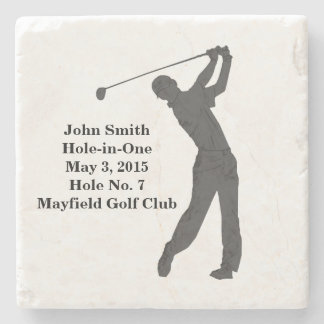 Golf Hole-in-one Commemoration Customizable Stone Coaster