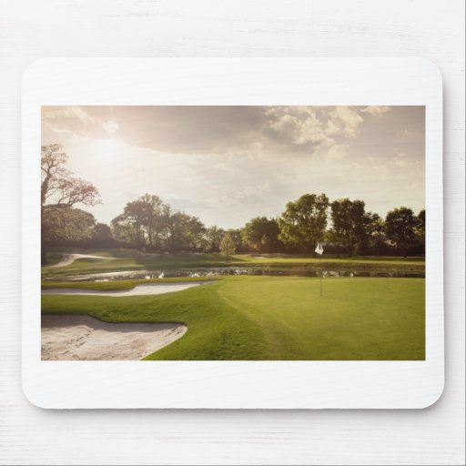 Golf hole mouse pads