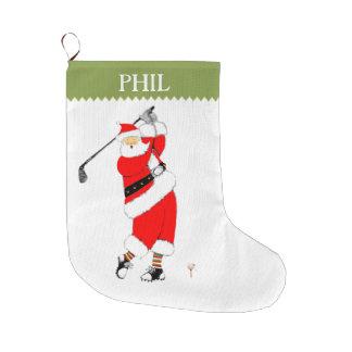 Golf Holidays Large Christmas Stocking