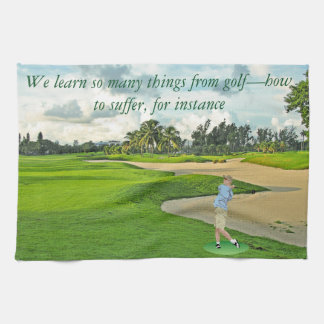 Golf—how to suffer tea towel