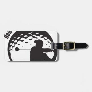 Golf How's My Driving Grandpa Dad Golfer Luggage Tag