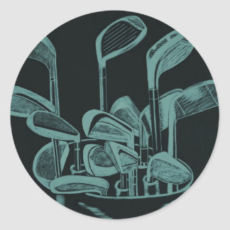 Golf Implements Stickers
