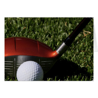 Golf Iron and Ball Greeting Card