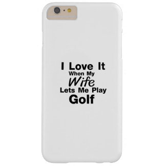 Golf is For Me Funny Gift Golfing Golfer Cool Barely There iPhone 6 Plus Case