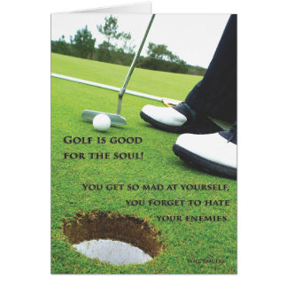 Golf is good for the soul music card