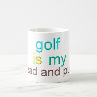 Golf Is My Bread And Putter Coffee Mug
