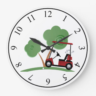 Golf Large Clock