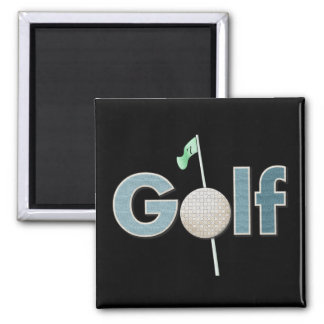 Golf Logo With Golf Ball and Flag Sports Magnet