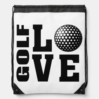 Golf Love, Golfer's Drawstring Bag