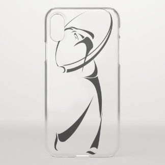 Golf Male Swing iPhone X Case