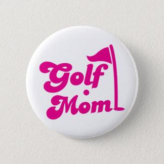 Golf Mom 6 Cm Round Badge
