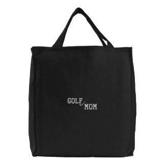 Golf Mom Embroidered Bag