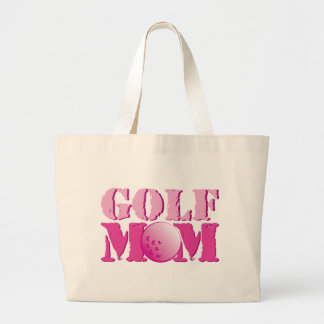 Golf Mom Pink Large Tote Bag