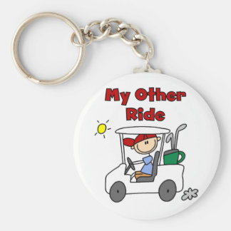 Golf My Other Ride Key Ring