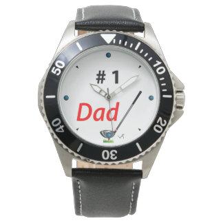 GOLF Number One DAD, Golf Club, Cool Mens Watch