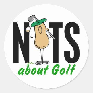 Golf Nut 2 Round Sticker