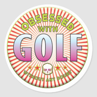 Golf Obsessed R Round Stickers