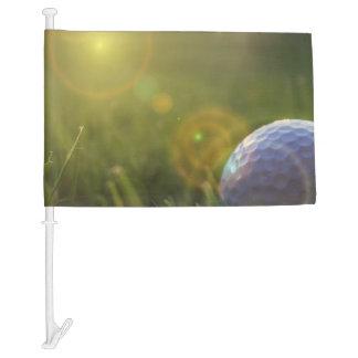 Golf on a Sunny Day Car Flag