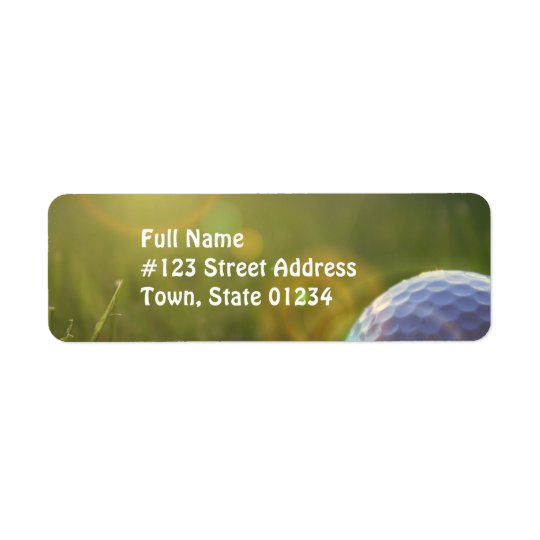 Golf on a Sunny Day Return Address Label