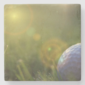 Golf on a Sunny Day Stone Coaster
