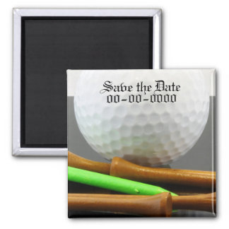 Golf Outting Save the Date Square Magnet