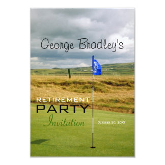 Golf Personalized Retirement Party Invitation