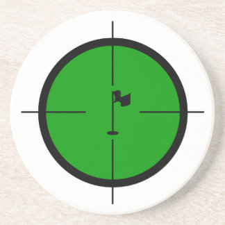 Golf Pin in the Crosshairs Coaster
