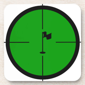 Golf Pin in the Crosshairs Coasters