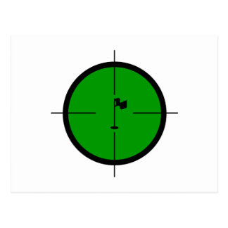 Golf Pin in the Crosshairs Postcard