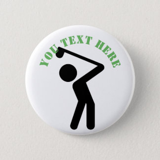 Golf Player 6 Cm Round Badge